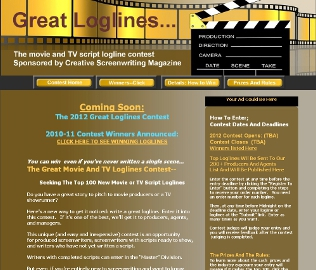 GreatMovie and TV Loglnes contest home page
